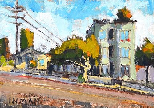 """Market Street, San Diego"" original fine art by Kevin Inman"
