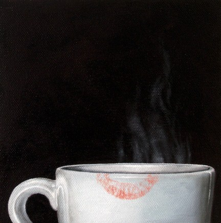 """Coffee Study: Lipstick"" original fine art by Jelaine Faunce"