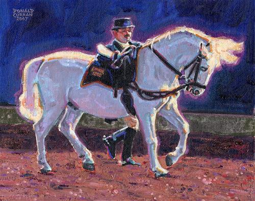 """Show Horse"" original fine art by Donald Curran"