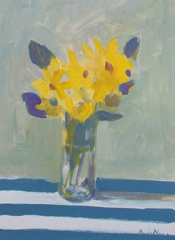 """Yellow with Stripes"" original fine art by Pamela Munger"
