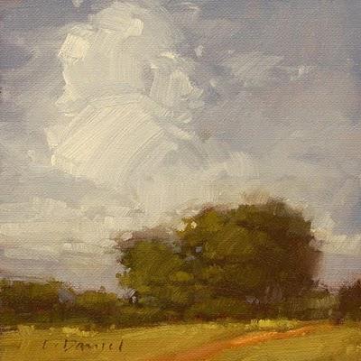 """Sky Plumes"" original fine art by Laurel Daniel"