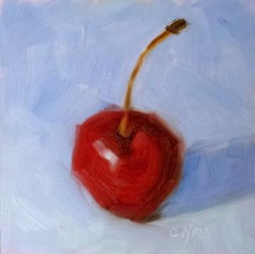 """Chubby Cherry No. 2"" original fine art by Cindy Haase"