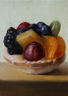 """Fruit Tart"" original fine art by Jonathan Aller"