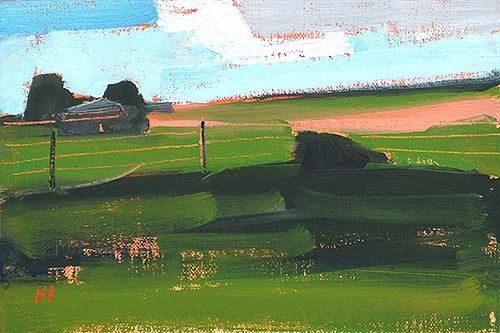 """Oklahoma Farm"" original fine art by Kevin Inman"