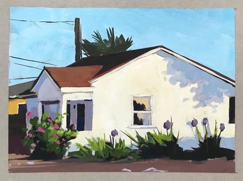 """""""White House"""" original fine art by Sharon Schock"""