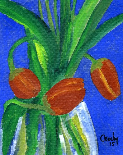 """Bottom Feeders"" original fine art by Donna Crosby"