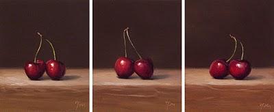 """""""Happy Valentine's Day (Cherries)"""" original fine art by Abbey Ryan"""