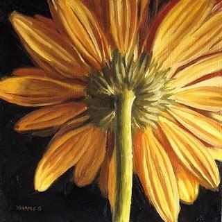 """Behind the Flower"" original fine art by Michael Naples"