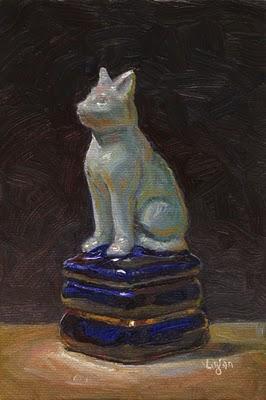 """Cat Box"" original fine art by Raymond Logan"