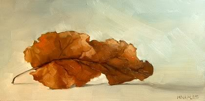 """Reclining Leaf"" original fine art by Michael Naples"