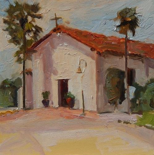 """'Soledad Mission  California, plein air painting by Robin Weiss"" original fine art by Robin Weiss"
