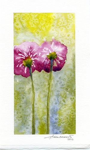 """""""Two Poppies"""" original fine art by Eileen Hennemann"""