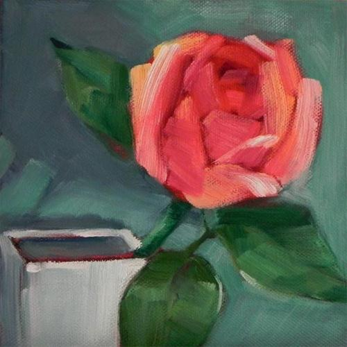 """Flowers #4 Pink Rose"" original fine art by Cheryl Wilson"