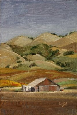 """Barn out on Lopez Drive #2"" original fine art by Raymond Logan"