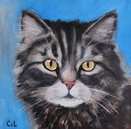 """Sweet Michelle"" original fine art by Conny van Leeuwen"