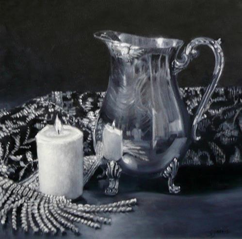 """Silver Pitcher"" original fine art by Susan N Jarvis"