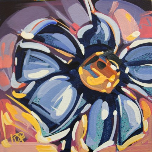 """Flower Abstraction 189"" original fine art by Roger Akesson"