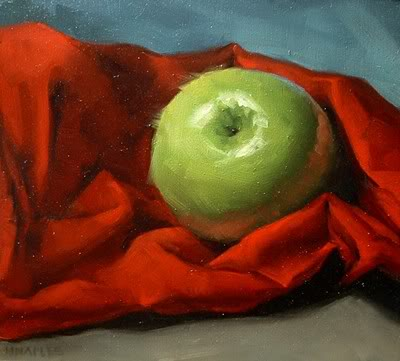 """""""Wrapped in Red"""" original fine art by Michael Naples"""