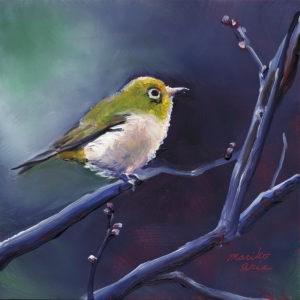 """Bird Waiting for Spring"" original fine art by Mariko Irie"