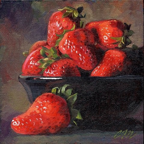 """Berry Bowl"" original fine art by Connie McLennan"