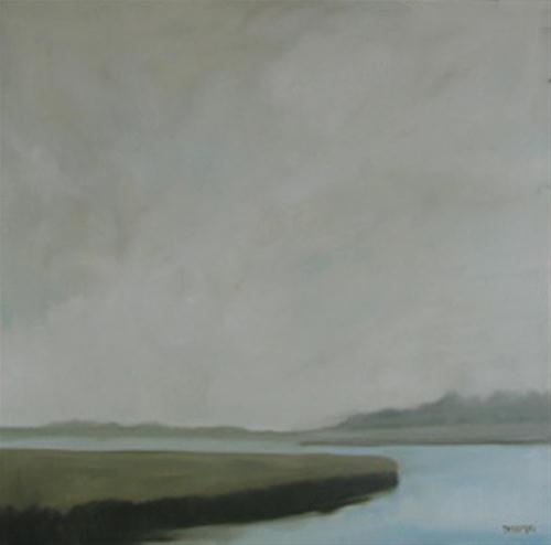 """Misty Day"" original fine art by Donna Thomas"