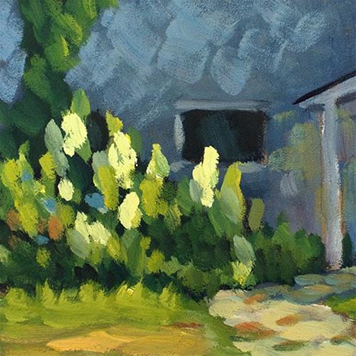"""""""Hydrangea Shade"""" original fine art by J. Farnsworth"""