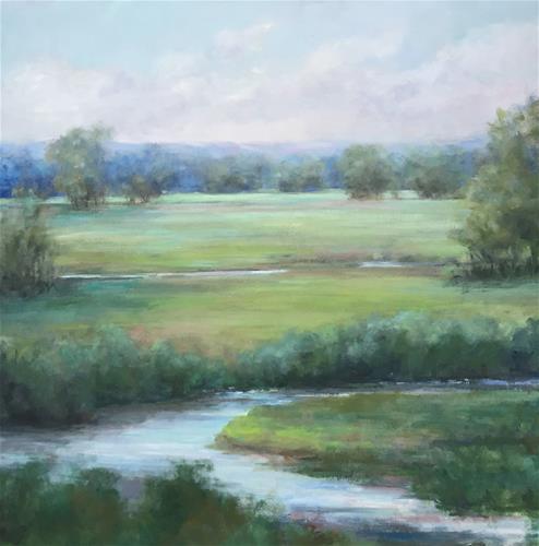 """Greener Pastures"" original fine art by Christina Dowdy"