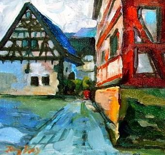 """the house"" original fine art by Jurij Frey"