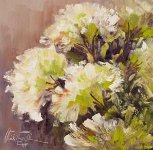 """Hortensien – Hydrangeas"" original fine art by Christa Friedl"