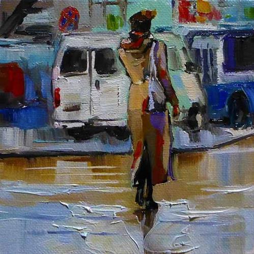 """die Moskauerin"" original fine art by Jurij Frey"