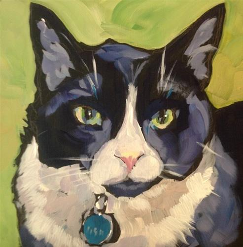 """""""Flynn"""" original fine art by Kat Corrigan"""