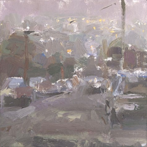"""Cityscape  California 13"" original fine art by Roos Schuring"