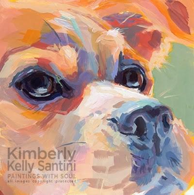 """Mel"" original fine art by Kimberly Santini"