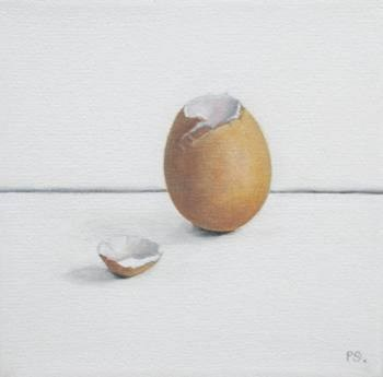 """More Eggshells III"" original fine art by Pera Schillings"