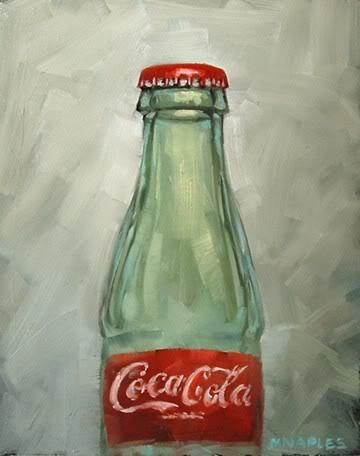 """Coke Bottle"" original fine art by Michael Naples"
