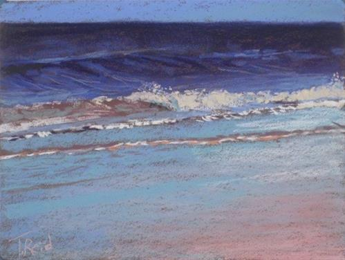 """Shore Wave #4"" original fine art by Toby Reid"