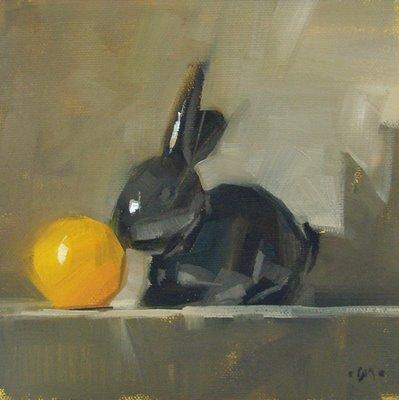 """Smells Like Orange"" original fine art by Carol Marine"