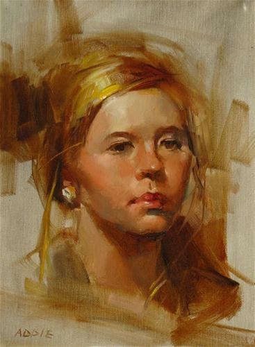 """Addie"" original fine art by Qiang Huang"
