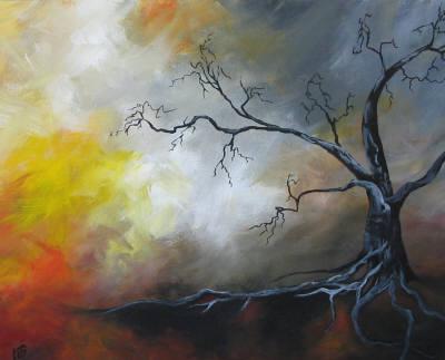 """Holding On"" original fine art by ~ces~ Christine E. S. Code"