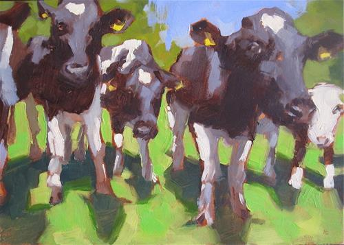 """MOO"" original fine art by Helen Cooper"
