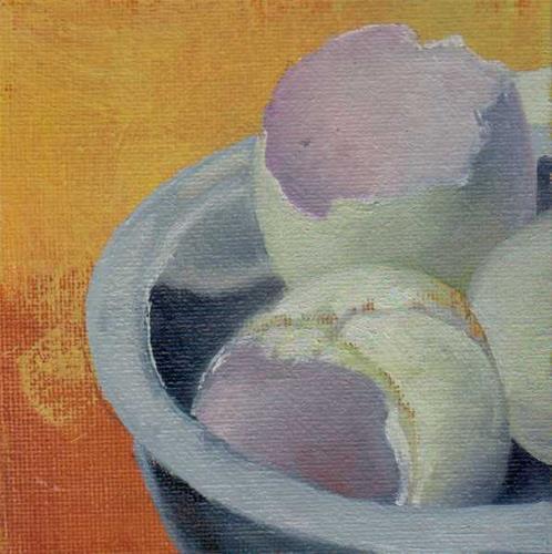 """cracked eggs"" original fine art by Mark DeBak"