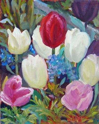 """James Bay Tulips"" original fine art by Darlene Young"