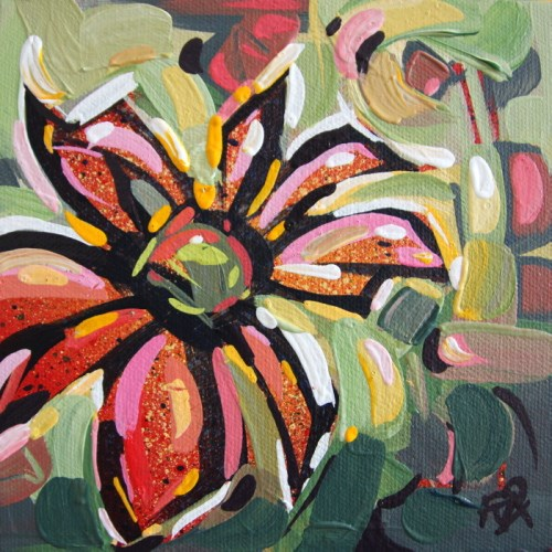 """Flower Abstraction 179"" original fine art by Roger Akesson"