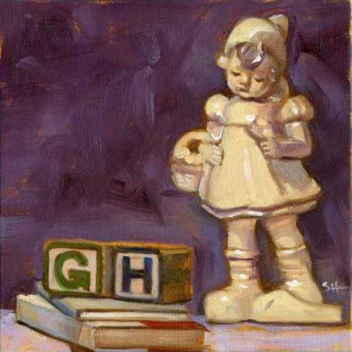 """For Gracie"" original fine art by Sandy Haynes"
