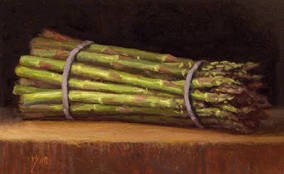 """Asparagus in Morning Light (+ exhibition)"" original fine art by Abbey Ryan"
