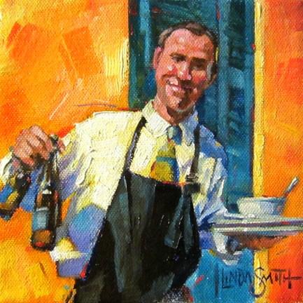 """A Smile & a Bud"" original fine art by Linda K Smith"