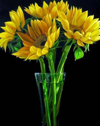 """Sunflowers 8x10"" original fine art by M Collier"