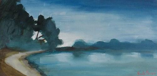 """""""Blue Evening"""" original fine art by Pamela Munger"""