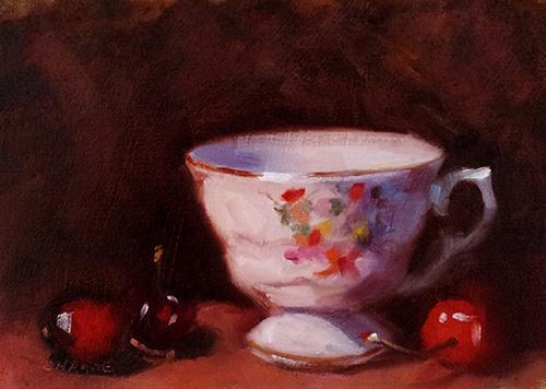 """""""Vintage Teacup"""" original fine art by Cindy Haase"""