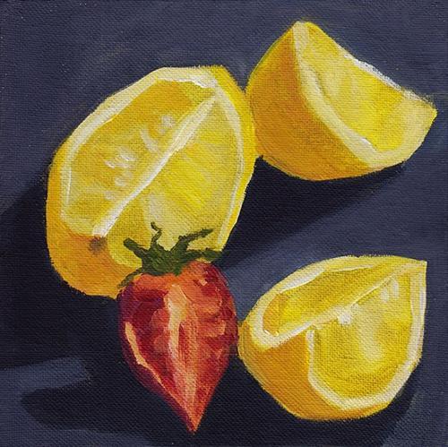 """Yellow and Red"" original fine art by J M Needham"